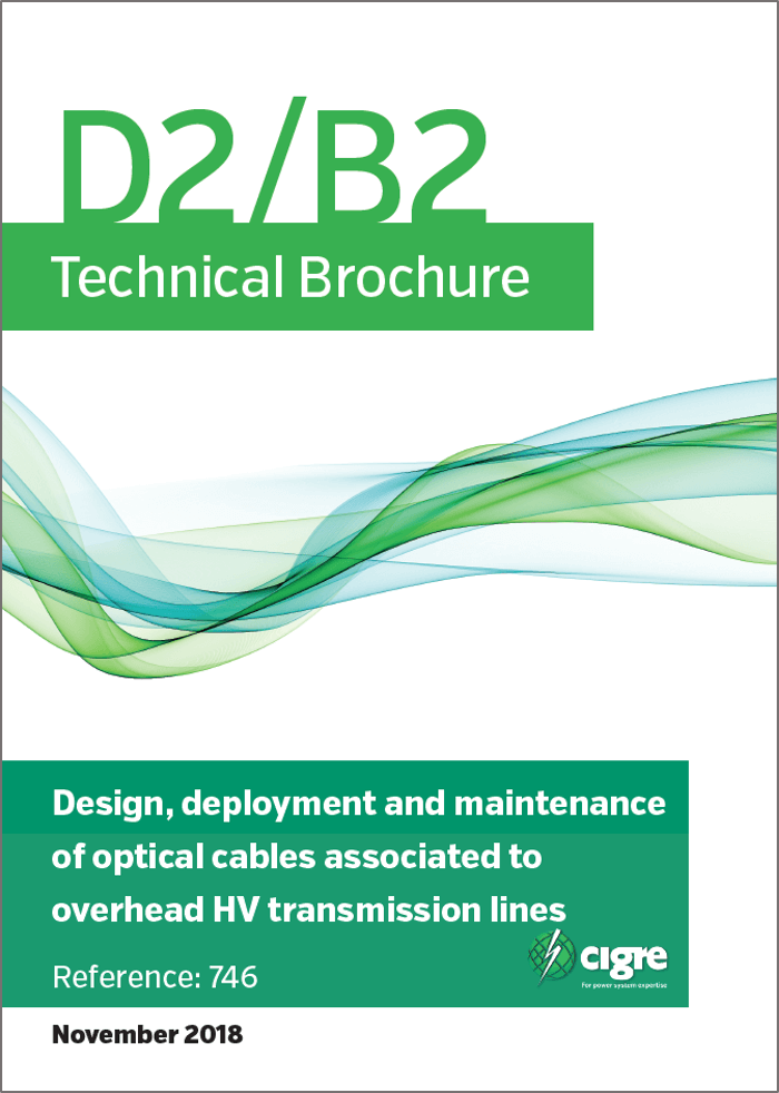Design, deployment and maintenance of optical cables associated to overhead transmission lines